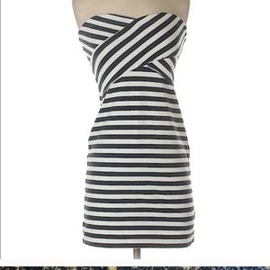 American eagle outfitters navy striped dress